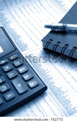 Stock Analysis - Soft Focus - stock photo