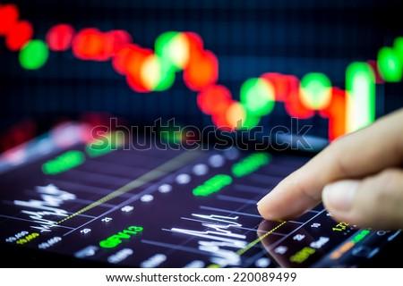 stock analyzing - stock photo
