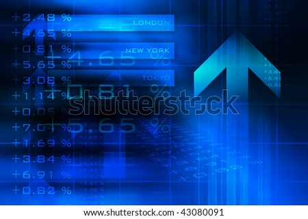 Stock and financial data background.