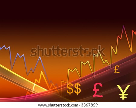Stock and Share chart - stock photo
