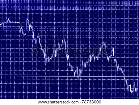 Stock chart on the screen - stock photo