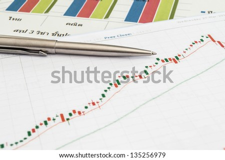 Stock chart with pen