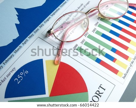 Stock charts (line graph) - stock photo