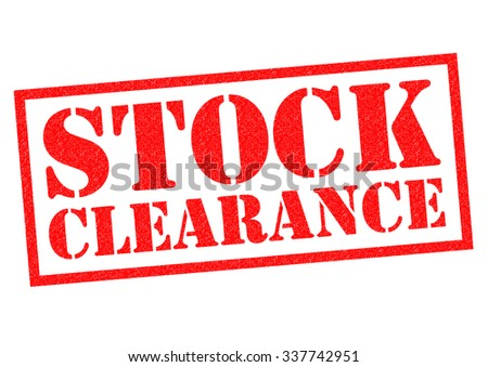 STOCK CLEARANCE red Rubber Stamp over a white background. - stock photo