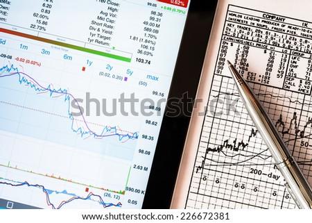 Stock Data Analysis - stock photo
