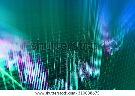 Stock exchange background. - stock photo