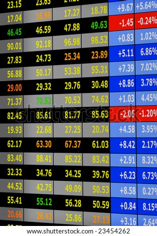 stock exchange board - stock photo