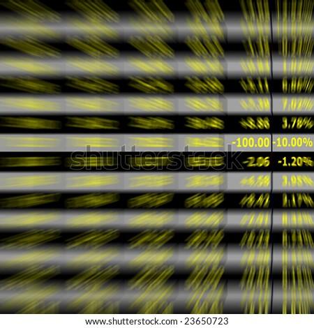 stock exchange board - stock photo