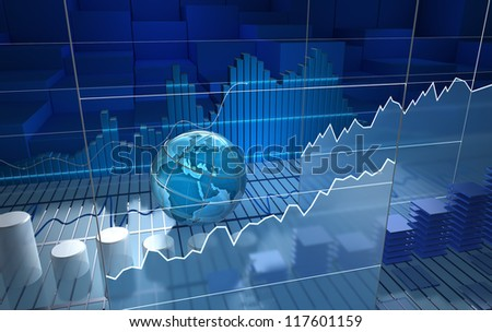 Stock exchange board, abstract background - stock photo