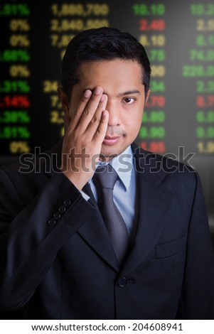 Stock Exchange Businessman  - stock photo