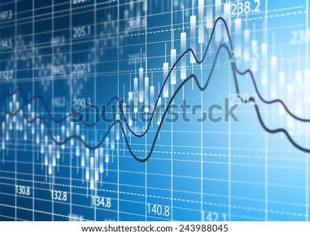 Stock exchange chart,Business analysis diagram. - stock photo