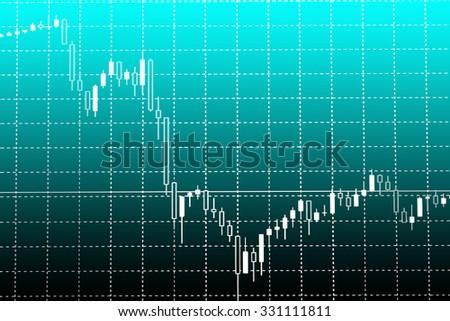 Stock exchange chart graph. - stock photo