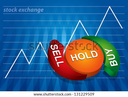 Stock exchange charts with abstract background and diagram - stock photo