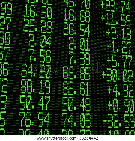 stock exchange digital board - stock photo