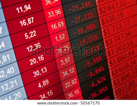 Stock exchange  forex- loss and crisis - stock photo