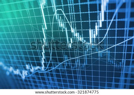 Stock exchange graph screen electronic company corporate index display profit economic global graphic loss success bank economy technology analysis money buy board diagram nasdaq goal ticker data  - stock photo