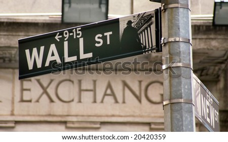 Stock Exchange in New YOrk, Wallstreet, USA - stock photo