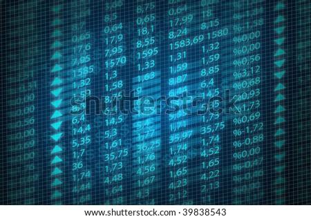 stock exchange quotes - stock photo
