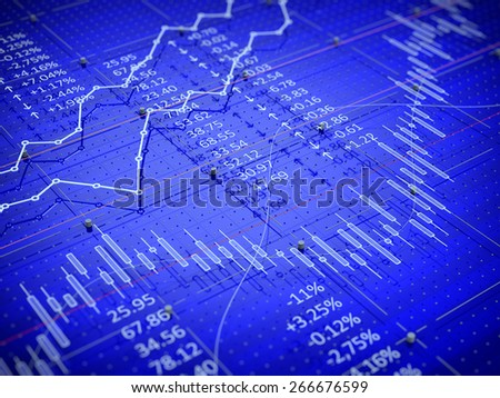 Stock exchange trade chart bar candles concept  - stock photo