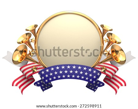 Stock foto USA frame bage label isolated on white.