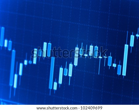 Stock graph on a computer screen