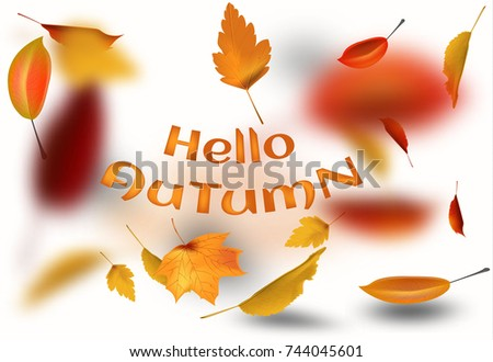 stock illustration sale autumn falling leaves イラスト素材 744045601