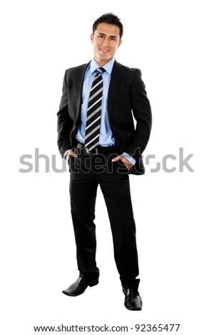 Stock image full shot of businessman isolated on white - stock photo
