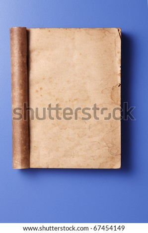 stock image of a old blank book