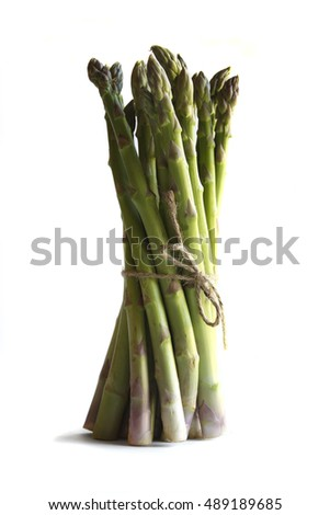 Stock image of asparagus taken against a white background