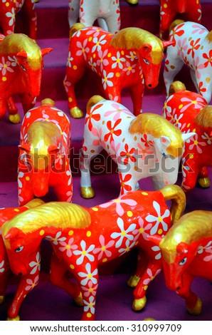 Stock image of ceramic figurine of a horse   - stock photo