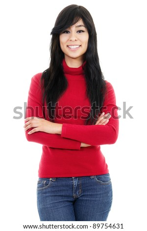Stock image of confident casual woman - stock photo