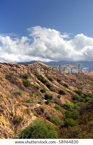 Stock image of Diamond Head, Honolulu, Hawaii