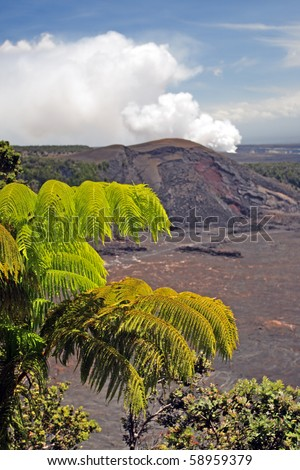Stock image of Hawaii Volcanoes National Park, USA - stock photo