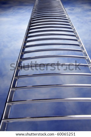 stock image of ladder in the sky - stock photo