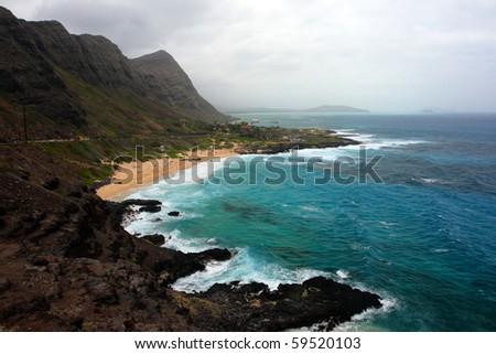 Stock image of Maunalua Bay, Oahu, Hawaii - stock photo