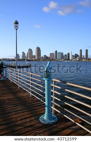 Stock image of San Diego waterfront and skyline - stock photo