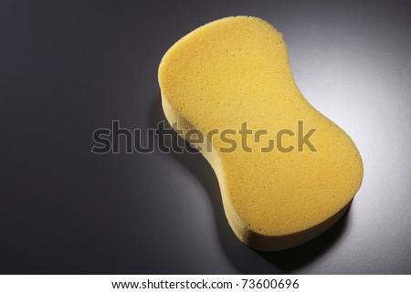 stock image of  sponge on the black - stock photo