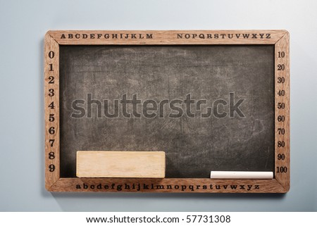 stock image of the black board - stock photo