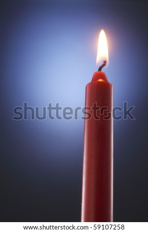 stock image of the candle in the dark
