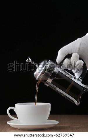 stock image of the coffee press - stock photo