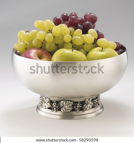 stock image of the fancy fruit bowl - stock photo