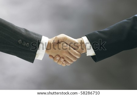 stock image of the hand shake