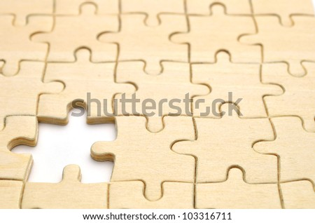stock image of the jigsaw puzzle - stock photo