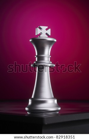 stock image of  the  king standing alone