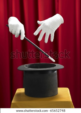stock image of the magic show