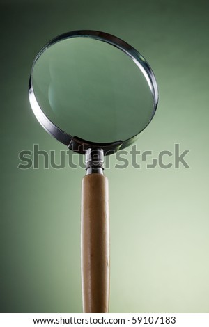 stock image of the magnifier