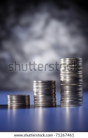 stock image of the money growth - stock photo