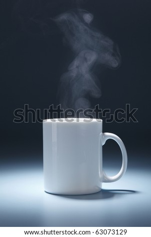 stock image of the mug with steam - stock photo