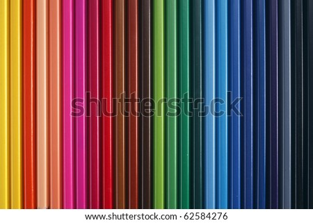 stock image of the mulicolor pencil - stock photo