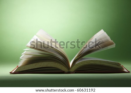 stock image of the open book - stock photo